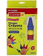Camel Finger Grip Crayons - 10 Shades (Multicolor)