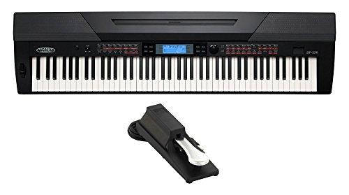 Classic-Cantabile-SP-250-BK-Stagepiano-SET-inkl-Pedal-88-Tasten-Hammermechanik-Anschlagdynamik-Polyphonie-128-600-Sounds-MIDI-USB-Aufnahme-Begleitfunktion-inkl-Notenstnder-Netzteil-Sustainpedal-schwar