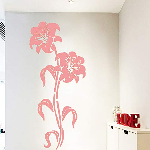 yiyiyaya Artistique Fleur Home Decor Vinyle Stickers Muraux Nursery Room Decor Autocollant Home Decor Rose 43cm X 98cm
