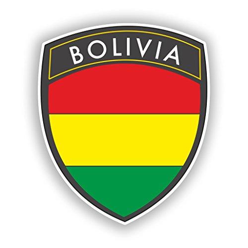 2x 20cm/Verlaufsfilter Bolivien Flagge Design Vinyl Aufkleber Reise Gepäck # 10619