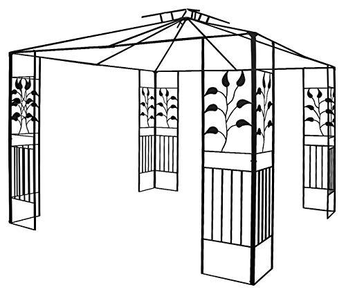 habeig Pavillongestell Metalll Pavillon 3x3m Pavillion Ersatzgestänge Gartenpavillon Ersatzgestell (Gestell Toskana)