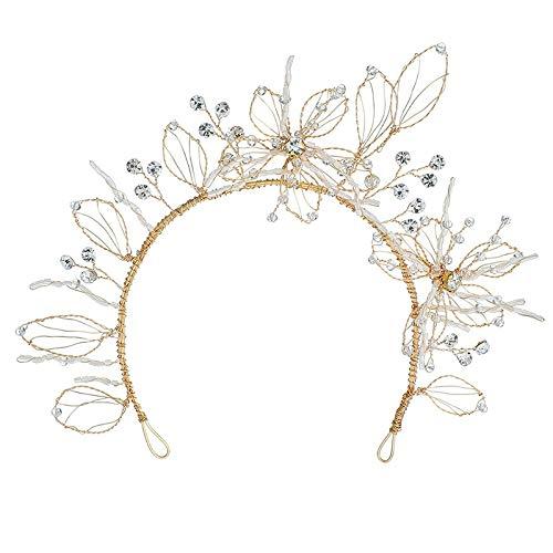 mitation Perle Strass Hochzeit Stirnband Hand Besetzte Stirnband Haar Band Clip Kopf Bedeckung ()