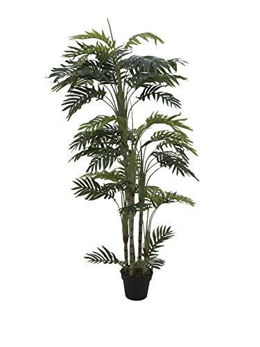 artplants Set 'Künstliche Betelpalme + Gratis UV Schutz Spray' - Deko Areka Palme Marwa, grün, 170 cm