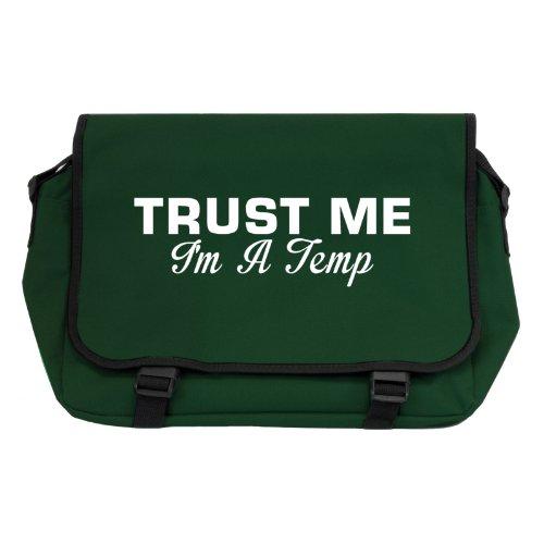 trust-me-i-m-a-temp-messenger-bag-flasche-grun