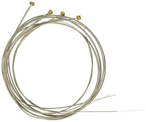 Elixir 14087 Electric Bass Saiten 4 Medium Extra Long Scale Nanoweb Coating (4 E-bass-saiten)