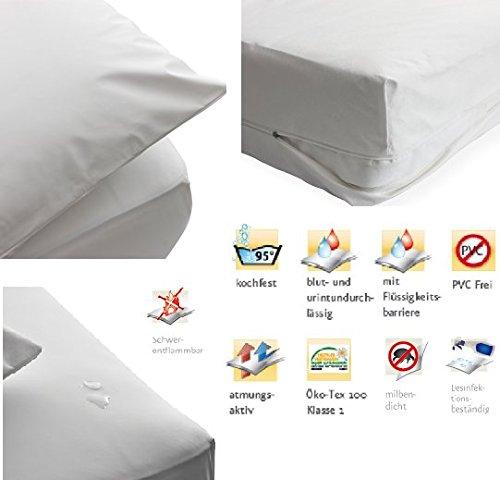 Preisvergleich Produktbild 3 tlg. Matratzenschutzbezug Bettdeckenbezug Kissenbezug wasserdicht (80x80cm/135x200cm/90x200cm)
