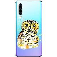 Oihxse Compatible con Huawei P30 Lite/Nova 4E Funda Suave Gel TPU Silicona Cristal Transparente Carcasa Acuarela Animal Pintado Patrón Protectora Estuche Bumper Caso Case (B5)