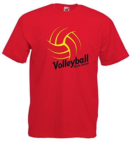 Settantallora - T-shirt Maglietta J1328 Busto Arsizio Volleyball Rosso