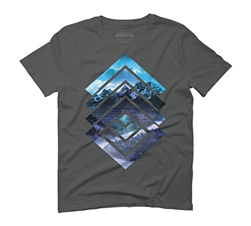 high top Men's Graphic T-Shirt - Design By Humans Anthracite