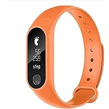 OPAKY para M2 Podómetro Deportivo Pulsera Inteligente Ritmo Cardíaco Bluetooth V4.0 Reloj Inteligente Monitor