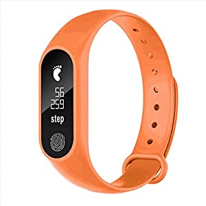 Jersh Smart Electronic Watch,M2 Sports Pedometer Smart Bracelet Heart Rate Bluetooth V4.0 Smart Watch Stopwatch Step Counter Sports Watch