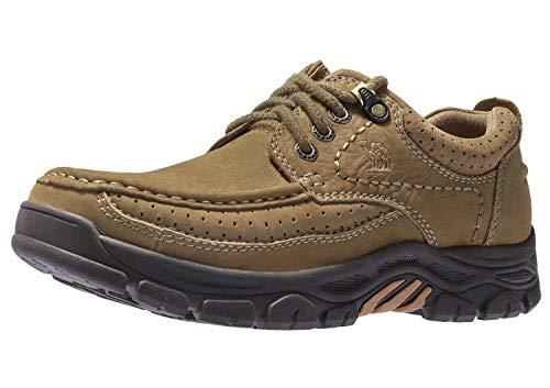 CAMEL CROWN Freizeitschuhe Herren Walkingschuhe Low-Top Mokassins Slip on Loafers Bequeme Lederschuhe für Männer (Halloween-aktivitäten Die Für Arbeit)