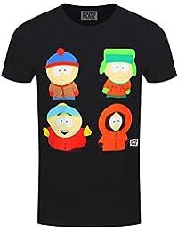 South Park T-Shirt Characters Homme Noir