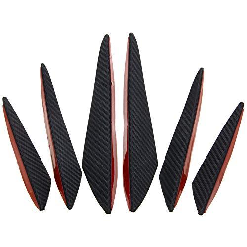 Sen-Sen Auto geändert Universal Small Enclosed Windmesser Carbon Front Bar Black & Red