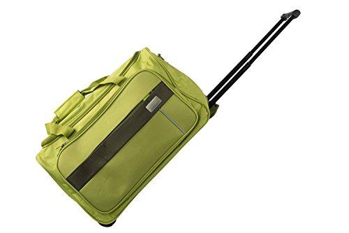 Borsa da palestra PIERRE CARDIN verde borsone da viaggio con trolley M247