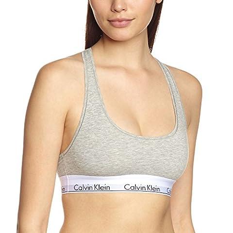 Calvin Klein Damen Bustier MODERN - BRALETTE, Einfarbig, Grau (GREY HEATHER 020), 38 (Herstellergröße: (Klein Calvin)