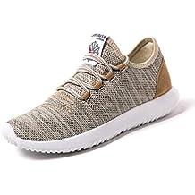 Hombres Running Zapatos Verano Deporte Transpirable Zapatos Deportivos luz Zapatos de Malla