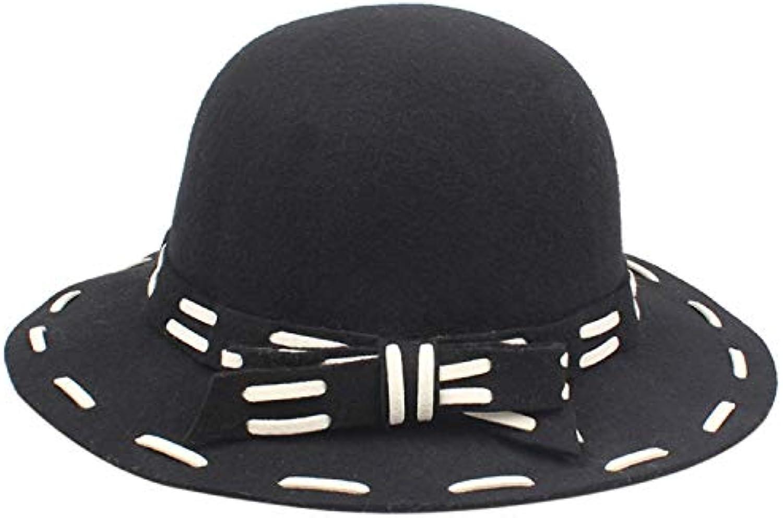 Cappelli invernali per le donne Cappello Donna Lana Autunno Inverno Lana  Donna Retro Cappello a cilindro 3f894fed5a39