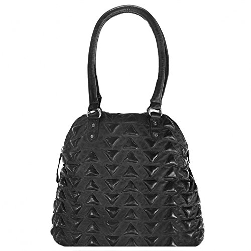 Billy the Kid Marokko Aisha Triangle Shopper Tasche Leder 34 cm Black