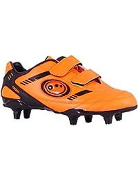 Optimum Jungen Tribal-Velcro Moulded Stud Fußballschuhe, Orange (Fluro Orange/Black), 33 EU (1 UK)