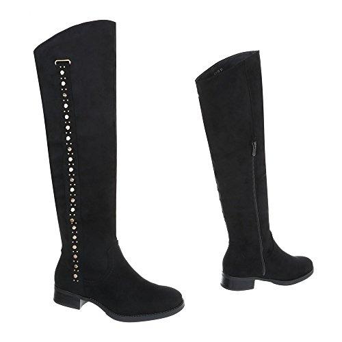 E Stivaletti design Black 990 Scarpe Block Pg Stivali Ital Donna Classico 8qtE6w