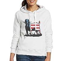 LLiopn Colorrado Boer Goat Flag Pullover Hoodie Women