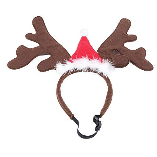 Katze Kostüm Coole - Underleaf Cute Pet Supplies Cooles Kostüm Weihnachten Hund liefert Katze Zubehör Geweih Stirnband Weihnachtsschmuck (Style2)