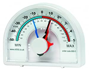Large Max Min Dial Thermometer, Ideal For Greenhouse, Conservatory, garden etc by ETI Ltd