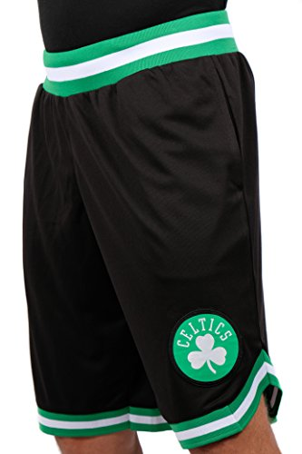 NBA Herren Mesh Basketball Shorts Woven Active Basic, Team Logo schwarz, Herren, GSM3547F, schwarz, Medium (Celtics Boston Shorts)