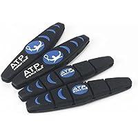 Andux 4pcs / set Squash Racket Raqueta de tenis de vibraciones Amortiguadores Amortiguador de silicona Tenis Cadena de choque de amortiguación WQBZQ-02