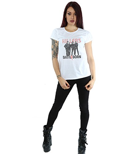 The Killers Femme Battle Born T-Shirt Blanc