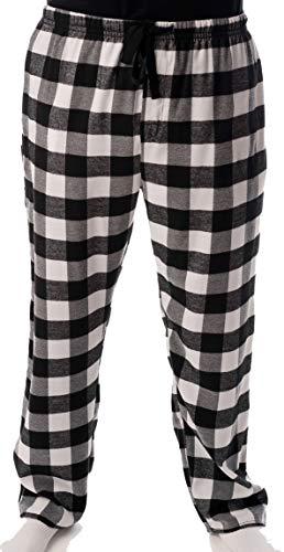 #followme Herren Flanell-Pyjama - Plaid Pyjamahose für Herren - Lounge & Sleep PJ Hose - Rot - Large -