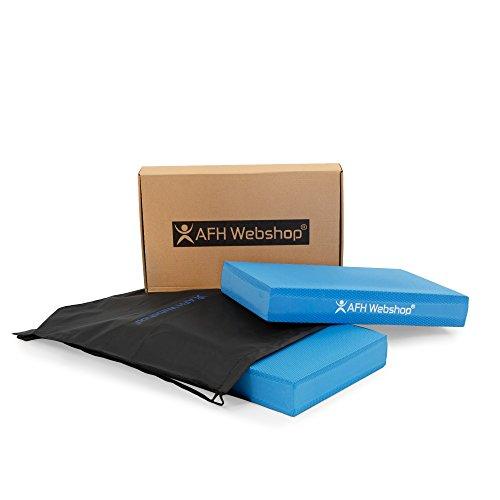 Kompaktes Balance Pad mit Transport Rucksack | PREMIUM QUALITÄT | Koordinationsmatte | Training und Verbesserung von Gleichgewicht & Stabilität | Ganzkörpertraining, Gymnastik, Yoga, Pilates (Blau) -