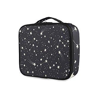 SUGARHE Constelaciones y Estrellas,Neceser Maquillaje,Bolsa Cosméticos Organizador Brochas Maquillaje Estuches Portátil