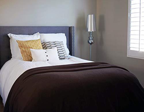 All Season de napa Super Suave acogedor Microplush terciopelo Manta, manta, ligera y fácil de limpiar sofá colcha de manta de forro polar de cama 90'x72' estratificación–perfecto para cualquier cama