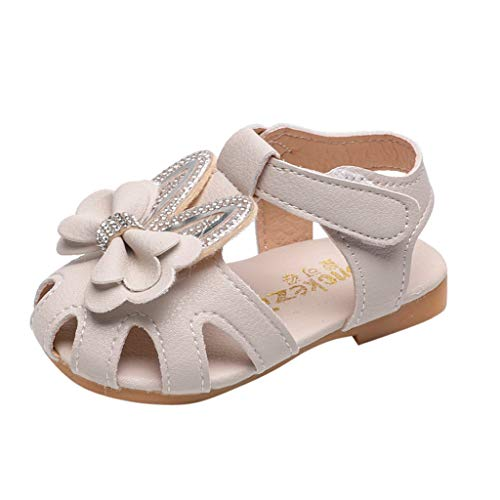LILIHOT Kleinkind-Säuglingsbaby Süße Elegante Bowknot Kristall Prinzessin Shoes Sandals Kinder Schuhe Infant Baby Mädchen Einzelne Schuhe Party Single Casual Sneaker Single Strap Mary Jane