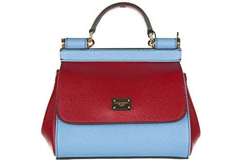 Dolce&Gabbana borsa donna a mano shopping in pelle nuova dauphine sicily rosso