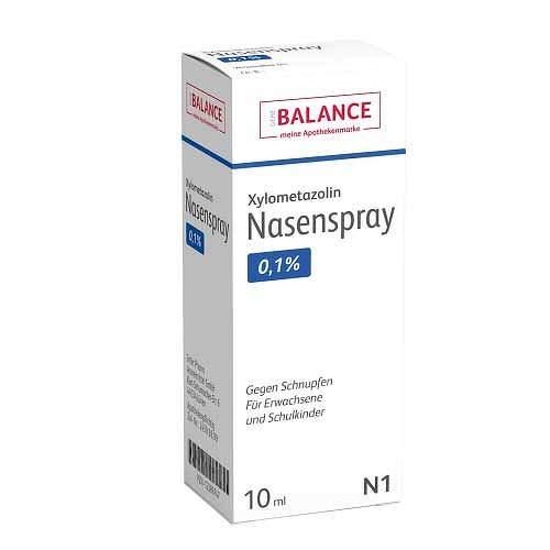 XYLOMETAZOLIN 0,1{2e2f413cb82ec51da50265a8607f66c45f719cf321e2197e91e8b4029c7c2e4d} Nasenspray Balance 10 ml Nasenspray