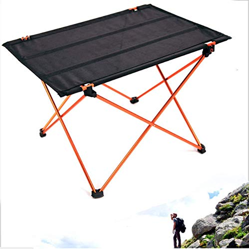 ZGYQGOO Ultraleichter kompakter faltender kampierender Aluminiumtisch mit Tragetasche Picknick im Freien Camping Backpacking Strandpatio Zusammenklappbarer Faltbarer Tisch -