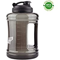 BOTTLED JOY Gourde de 2,5 litres, bouteille d'eau de sport de grande contenance avec poignée ; pour l'athlétisme, en salle de fitness, activités de plein air, en voyage