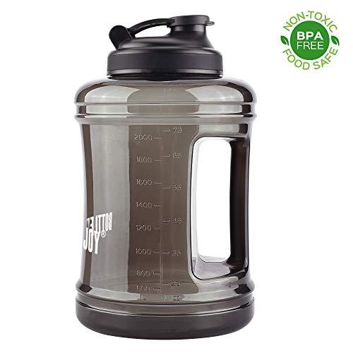 Bottled Joy Fitness-Wasserflasche, Krug, 2,5Liter, Sport-Wasserflasche, großes Fassungsvermögen, mit Griff, für Fitnessstudio, Reise, Sport. - Groß Krug
