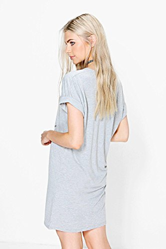 gris Femme Robe T-shirt Christmas Joy Where My Ho's Gris