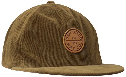 san-diego-hat-co-mens-courduroy-flat-bill-olive-one-size