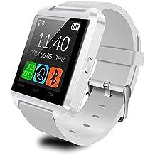 Smartwatch Bluetooth Reloj Inteligente Android iOS, Joymixx U8 Smart Watch Teléfono Inteligente De Pulsera con Pódometro/Cámara Remota/ Monitor de Sueño/ Contador de Calorias para Hombre y Mujer, Fitness Tracker para iPhone Samsung HTC Sony LG Huawei Xiaomi - Blanco