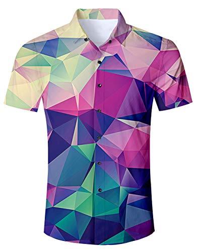 Herren Hemden Unisex 3D Druckten Sommer-Beiläufige Kurze Hülsen-T-Shirts Für Teenager M