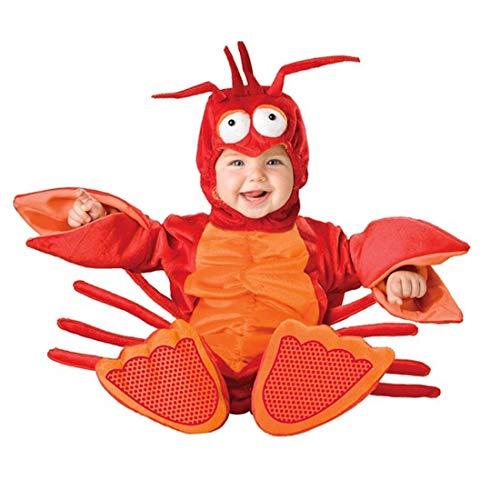 NormCorer - Cute Kleinkinder Baby Kostüm - Halloween Kleinkind Faux Tier verkleiden Sich mit Hut und Schuhe für Cosplay (6-12 Monate, Krabbe) (Super Cute Baby Kostüm)