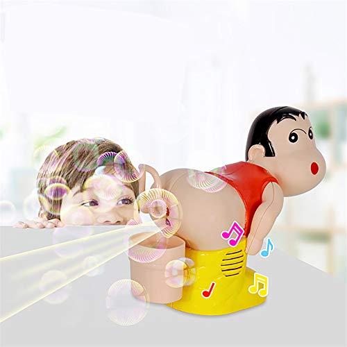 LanLan Kinder elektrische seifenblase gebläse furz Blasen Blasen Maschine mit licht Musik lustige Witz Spielzeug