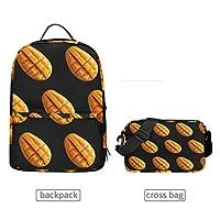 Detachable Mango Fruit Backpack Crossbody Bag for Men Women Travel Ladies Purse Teens College Casual Shoulder Daypacks