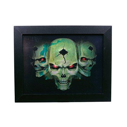 Zoelibat 97216542.008, Effektbild 3D Pirate Scull/Pirat Vexierbilder, Deko Halloween, circa 46 x 36 cm