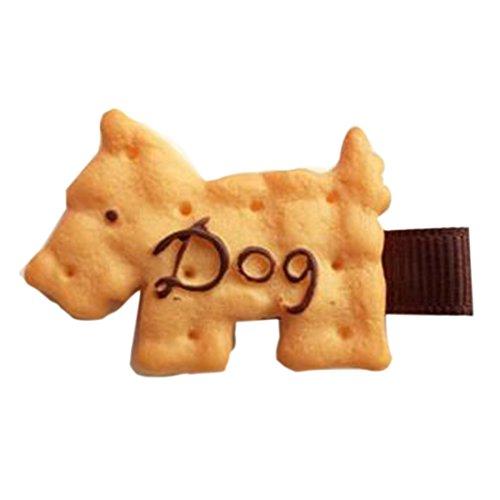Mädchen Kind nette Biscuit Cartoon Haarspange Stirnband Haarnadeln Haarspange Styles Hund